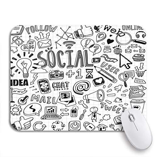 Gaming mouse pad medien soziale symbole kamera netzwerk kontakt online computer internet rutschfeste gummiunterlage mousepad für notebooks computer mausmatten