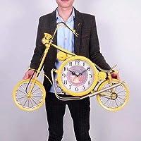 掛け時計 ホームデコレーションのためのレトロな大きな壁の時計メタル北欧ヴィンテージ工業オートバイ鍛造アイアンウォールクロック MJZJP (Color : Style1, Sheet Size : 79cm)