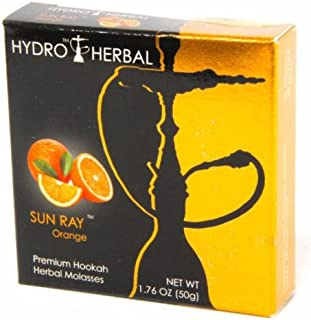 Hydro Herbal 50g Orange Hookah Shisha Tobacco Free Molasses by Texas Hookah