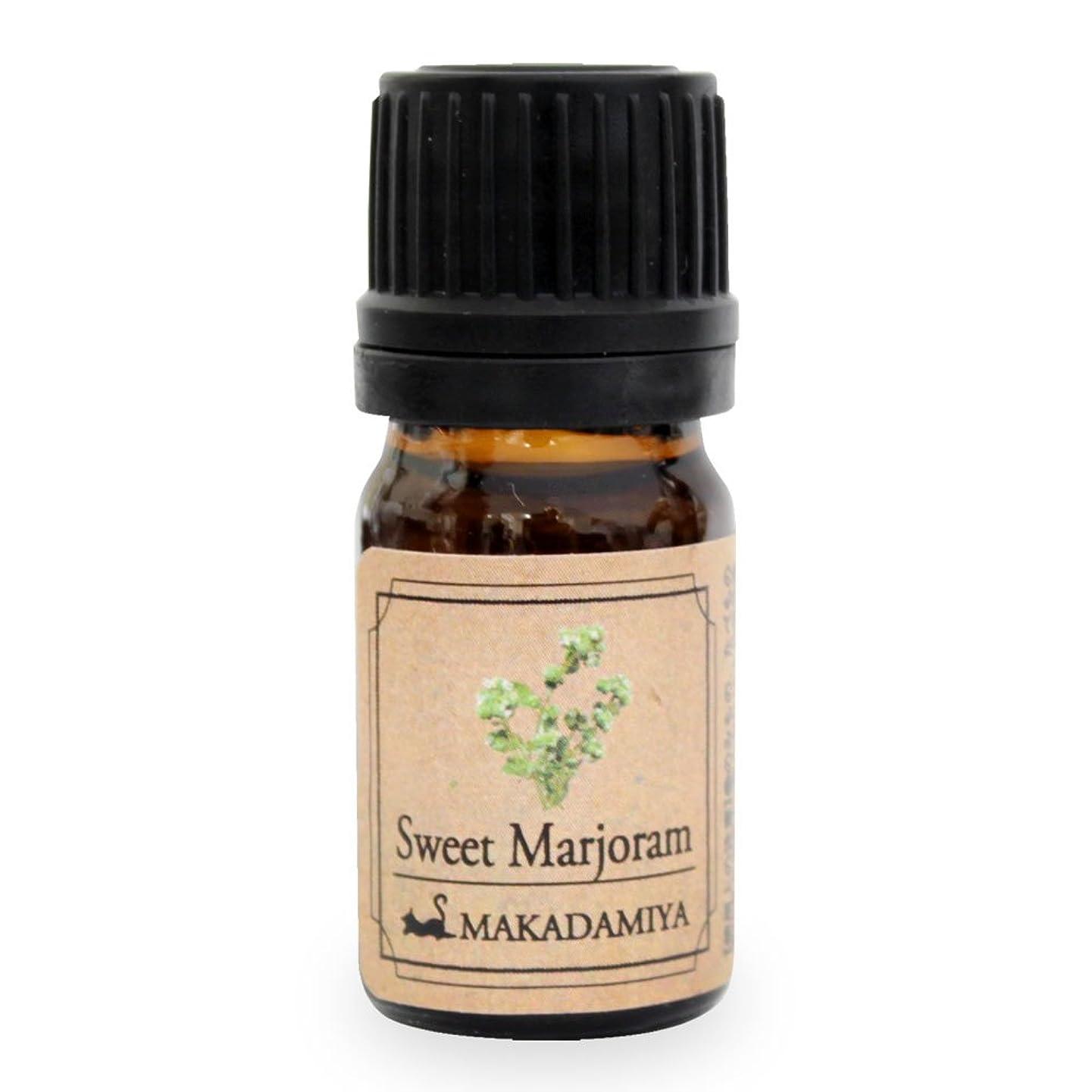 変更可能花火尽きるスイートマージョラム5ml 天然100%植物性 エッセンシャルオイル(精油) アロマオイル アロママッサージ aroma Sweet Ma.
