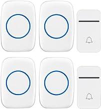Self-Powered Wireless Doorbell, IP44 Waterproof Electric Doorbell, 3 Volumes, 38 Melody Options, 200M Remote Doorbell, 2 B...