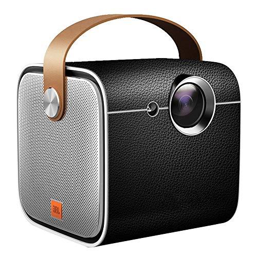 GWX Mini 3D Hd projector, intelligente spraakbesturing 120 inch scherm ingebouwde 16000 mAh batterij Home Office draagbaar