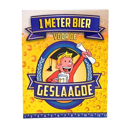 Kaart - 1 Meter bier - Geslaagde