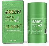 Green Mask Stick, potente mascarilla de arcilla purificadora de té verde, limpieza profunda, control de aceite, eliminación de espinillas para todo tipo de piel, mujeres, hombres (1 pack)