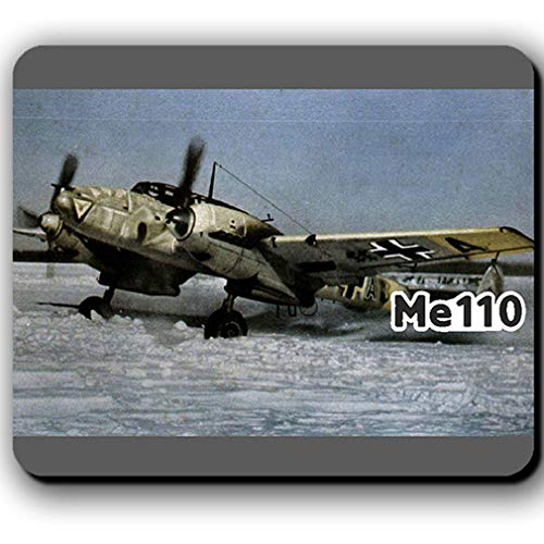 Me110 in de winter luchtwapen storer vliegtuig wintercamouflage afbeelding - muismat #13782