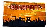 Flagge / Fahne Ruhrpott orange 90 x 150 cm