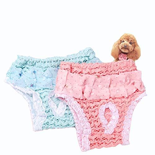 Gmjay Pet Fysiologische Broek Vrouwelijke Chiffon Kant Hond Luier Herbruikbare Was Able Comfortabele Ademende Luiers Hygiëne Broek