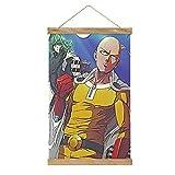 WPQL Lienzo de alta calidad para colgar un cuadro, One Punch Man-262, mural de lienzo moderno, mural de póster, fácil de instalar, 33.1 x 50.4 cm.