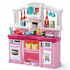 Let the kids cook for you for a change!  Place the pot and pan on the stove, and listen as food starts to bubble and sizzle!  Realistic lights and sounds add to the pretend play fun! Use the included coffee pods to make a cup o' joe!  Enjoy at home i...