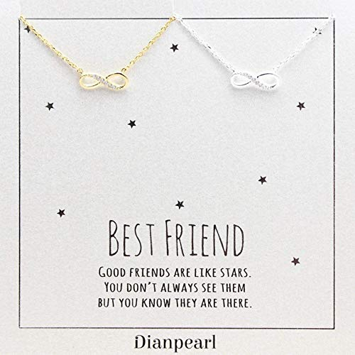 infinity necklace, Best friend necklace for 2, BFF Necklace, friendship necklace for 2, silver dainty necklace, Christmas gift, Graduation gifts
