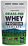 Grass Fed Whey Protein Powder Isolate - Unflavored - Low Carb Keto & Paleo Diet Friendly - Pure Grass-Fed Protein for Shakes, Smoothies, Drinks & Recipes- Non GMO & Gluten Free - 1 Pound