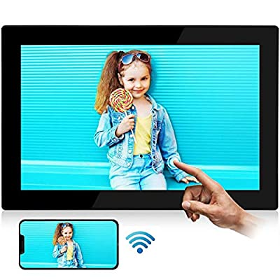 "Digital Picture Frame WiFi YENOCK 10.1"" Touch Screen 1280 800 Built in 16GB Memory Portrait&Landscape Instantly Photo & Video Sharing APP/Email/Facebook/Twitter"