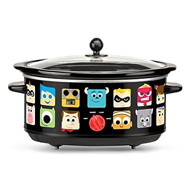 Disney Pixar Oval Slow Cooker, 7 quart, Black
