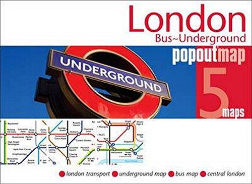 London Bus Underground PopOut Map (Popout Maps)