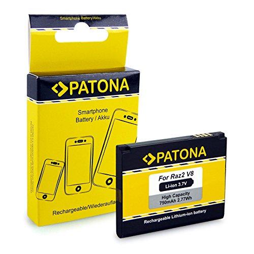 PATONA Akku BX50 kompatibel mit Motorola BX40 BX41 Moto U8 U9 V10 Razr2 PEBL2 V9m V9x