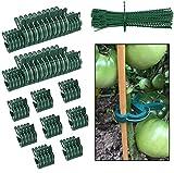 koitoy 110 PCS Pflanzenclips,pflanzenhalter für Rankhilfe Tomaten,Rosen, Gurken und andere,Pflanzenklammern wiederverwendbar,Stabile pflanzenklammern für Kletterpflanzen Befestigung