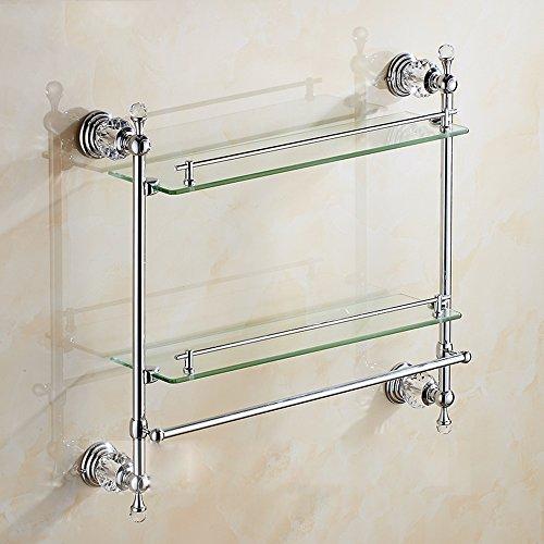 LY-Bathroom Shelf Estante de Cristal del Cuarto de baño del