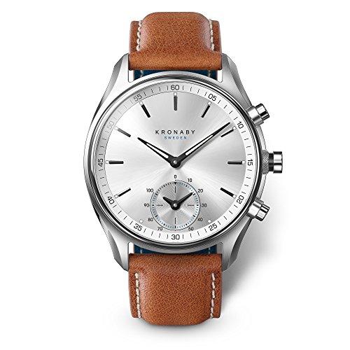 KRONABY SEKEL Herren Hybrid Smartwatch A1000-0713 eine traditionelle Uhr mit Smartwatch Funktionalitäten 43mm Gehäusedurchmesser Saphirglas 100 M wasserdicht