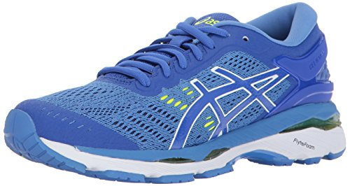 ASICS Womens Gel-Kayano 24 Running Shoe, Purple/Regatta Blue/White, 8 Medium US