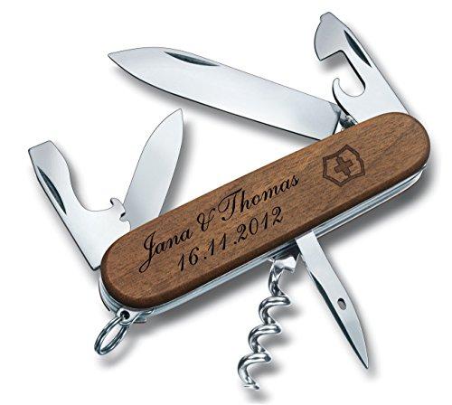 Victorinox Taschenmesser Spartan-Wood Nussbaum Inkl. Gravur Wunschtext