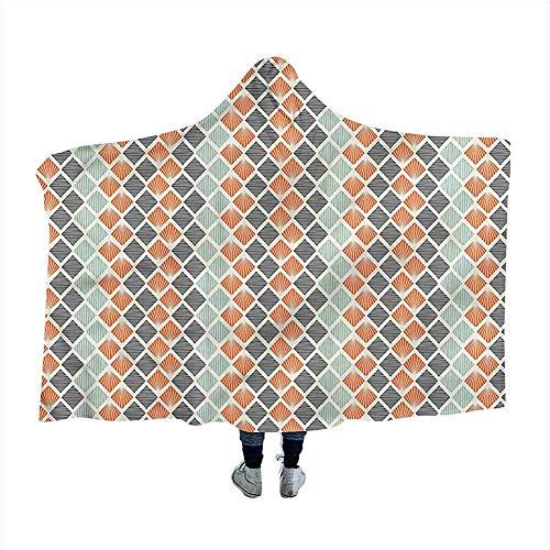Geometrische draagbare deken Ruiten met lijnen Mantel Deken voor Slaap Nap 50