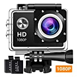 BUIEJDOG Action Cam 1080P 16MP Full HD Unterwasser Aktion Kamera wasserdicht Action Camera 170...