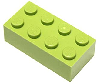 LEGO Parts and Pieces: Lime (Bright Yellowish Green) 2x4 Brick x50