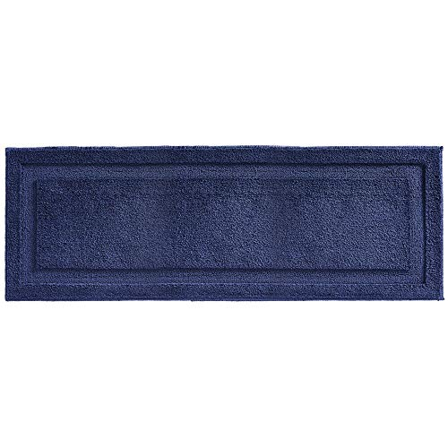 mDesign Soft Microfiber Polyester Non-Slip Extra-Long Spa Mat/Runner, Water Absorbent Accent Rug for Bathroom Vanity, Bathtub/Shower, Machine Washable - 60