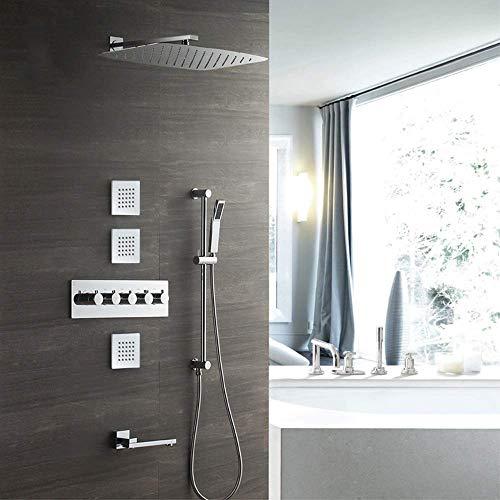 LHQ-HQ Conjunto Oscuro de Pared 350 * 550 de pulverización Superior de Cobre de la Ducha termostática del Grifo de la Ducha del Cuarto de baño Suministros Suministro de Agua
