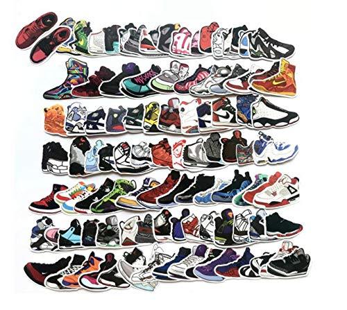 PMSMT 60 uds, Zapatos Deportivos de Dibujos Animados Mixtos, Zapatillas de Deporte, Pegatina de Graffiti para Maleta, Caja de Equipaje, portátil, monopatín, Bicicleta, Juguetes para niños, Pegatina
