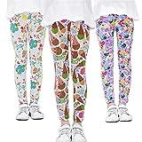 ADUKIDE Pantalones de Leggings para Niñas Paquete de 3 Leggings Clásicos 12 Años Patrón de Helado Extraño de Primavera (85)