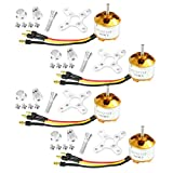 QWinOut A2212 1000KV Brushless Outrunner Motor 13T with 3.5mm Male Banana Bullet for RC DIY Aircraft Multi-Copter Quadcopter Drone (4 Pcs)