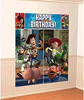 "Amscan Disney ""Toy Story"" Scene Setters Wall Decoration Kit, Birthday"