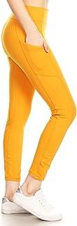 Leggings Depot High Waisted Leggings -Soft & Slim - Solid...