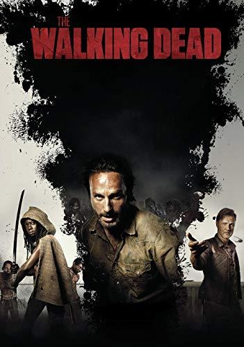 KJHJKH The Walking Dead Tv Show Posters DIY 5D Diamante Pintura por Número Kit,Taladro Completo Bordado Mosaico Pinturas Trabajo para Decoración de la Sala de Estar(40 x 60 cm)