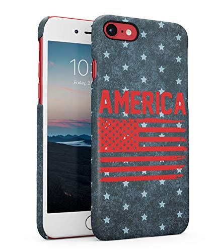 Funda Protectora de Plástico Duro Para iPhone 7 / 8 / SE 2020 Bandera Estadounidense American Flag Pattern New York America USA Dream Country Trippy Manhattan Travel Explore Funda Delgada y Ligera