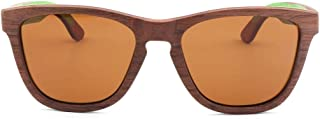 LUKEEXIN Sunglasses for Women and Men, Vintage Real Wooden Arms Glasses (Color : Brown)