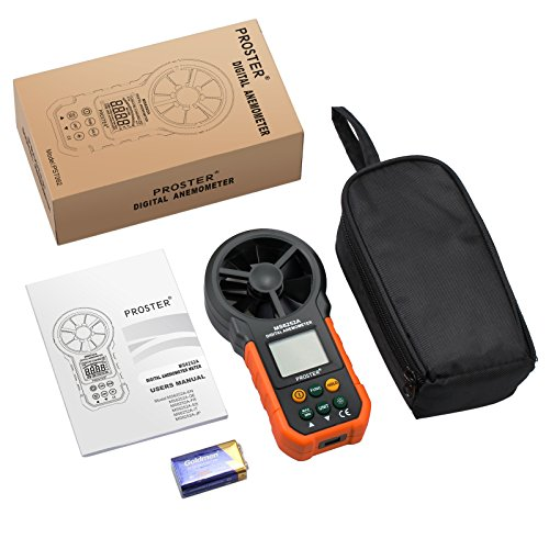 Anemómetro Digital Medidor de Velocidad y Temperatura del Viento Anemómetro...