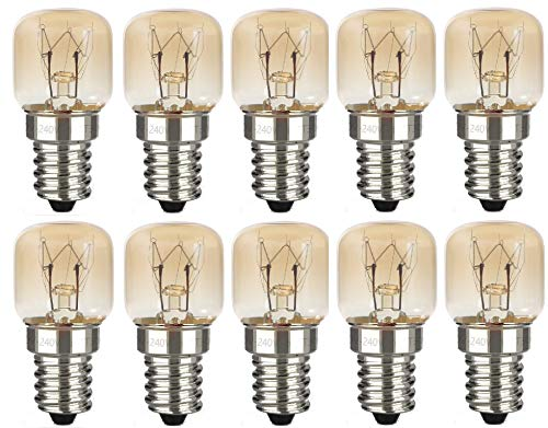 AcornSolution 15W T22 E14 230-240V SES Dimmable Clear GLS Appliance Light Bulb for Himalayan Salt Lamp Oven Light Bulbs, Fridges and Freezers,(10 Pack)