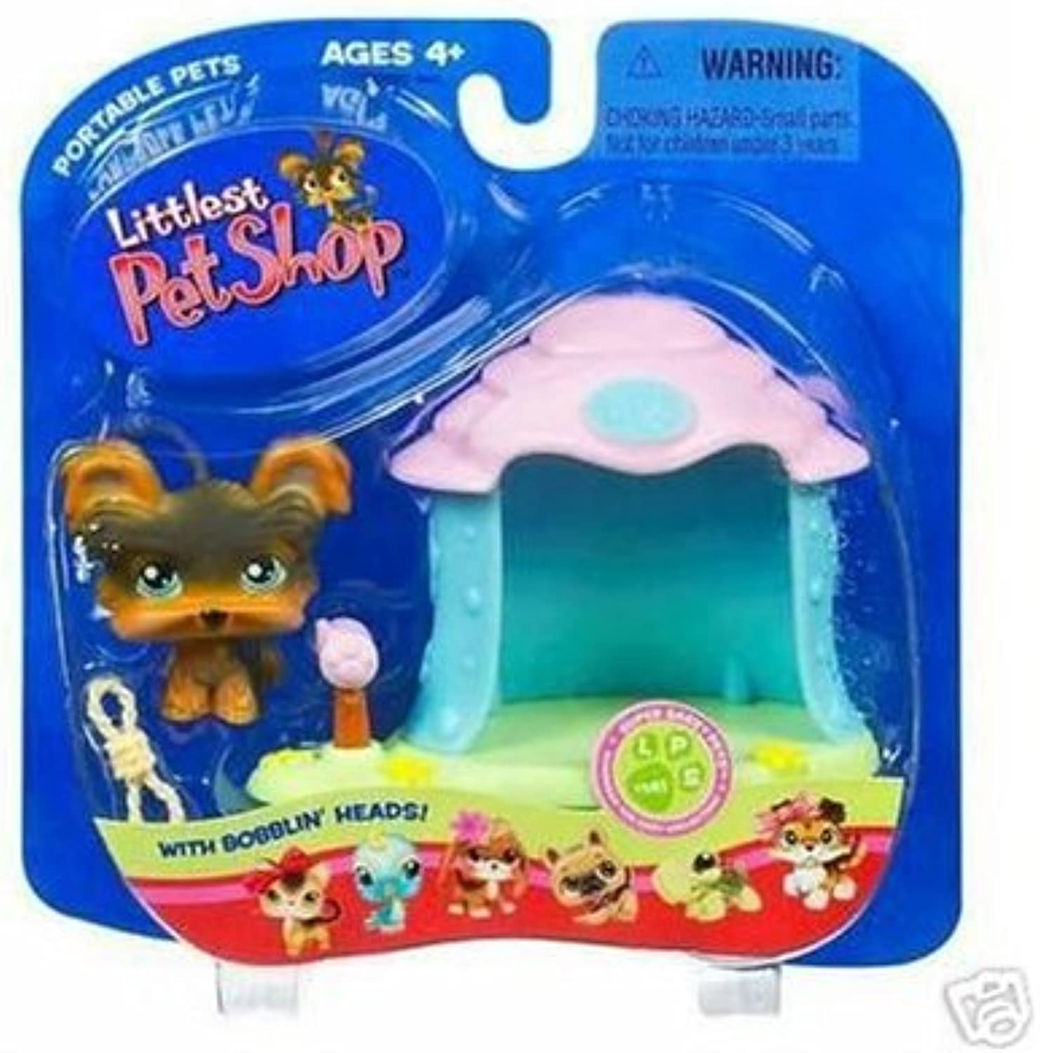 Littlest Pet negozio Pets On The Go cifra Yorki in Doghouse