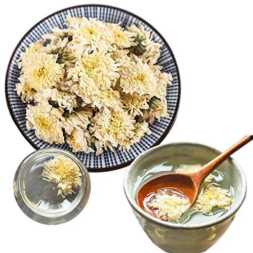 Té de hierbas chino Té de crisantemo blanco Nuevo té perfumado Cuidado de la salud Flores té de grado superior Comida verde saludable (100)