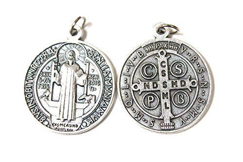 Cross Colgante de Medalla de San Benito de 32 mm con diseño...