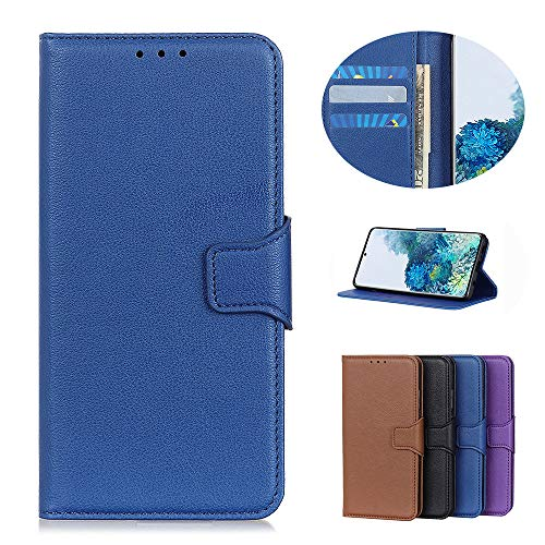Handyhülle für Samsung Galaxy A21s Hülle Leder Klapphülle Handytasche Hülle Schutzhülle für Samsung Galaxy A21s Handy Hüllen (Blau)