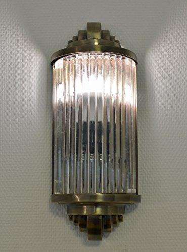 Art Deco Glasstäbchen Wandleuchte Bauhaus Lampe Wandlampe Antik Stil xc04 Palazzo Exclusiv