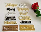 Personalized Wedding Acrylic Place Cards Wooden Laser Cut Names Custom Place Name Settings Guest Names Escort Cards Calligraphy Names Modern New Font Customized Name Plaque Business Card Holders