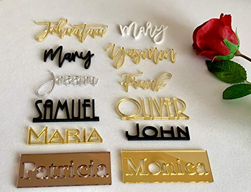Acrylic Nameplate Laser Cut Place Setting Sign Dinner Party Place Card Wedding Chill Card Decoration Modern Party Decoration Gold Place Name