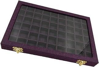 LAMZH Line Box 54 Grids Clear Glass Deksel Ringen Houder Showcase, Sieraden Verpakking Organizer Sieraden Doos Voor Oorbel...