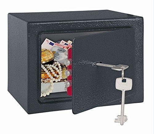 Rottner meubelkluis HomeStar 1 kleur antraciet, kluis, safe, inbouwkluis, dubbelbaardslot, sleutelslot