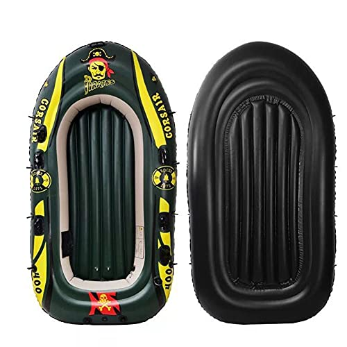 Bote de Pesca Inflable, Canoa de Kayak Inflable de PVC, 1/2/3/4 Persona, Bote Aire, Pesca, Buceo Deriva, Barco Pesca Kayak Goma con Estera de Aire Barco de Suelo Barco Al Aire Libre Bote,1 Person