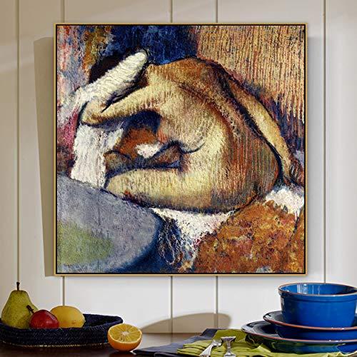 PLjVU El Lienzo despus del bao del Famoso Maestro Pintor dibuja Carteles e Impresiones para los murales de decoracin del saln.-Sin marco50x50cm